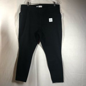 Super Skinny Black Pull-On Jeggings Size 18